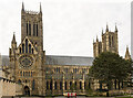 SK9771 : Lincoln Cathedral, north side by Julian P Guffogg