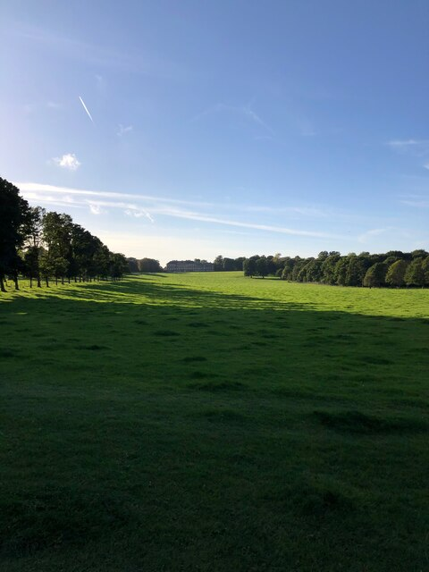 View along tree lines to Nostell Priory