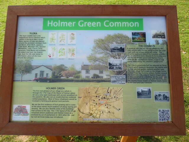 Information Board at Holmer Green Common