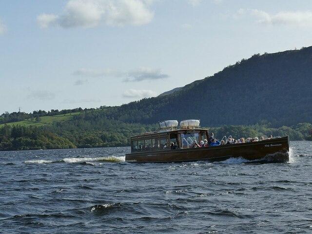 Passing boat on Derwentwater