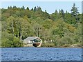 NY2522 : Lingholm boathouse by Stephen Craven