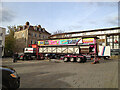 SP2864 : The Mop Fair is arriving, Market Place, Warwick by Robin Stott