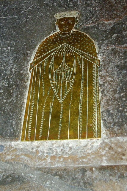 Brass of an unknown doctor in Little St Mary's Church