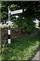 NY5537 : Cumberland County Council finger signpost at junction of road to Eden Lacy from B6412 by Roger Templeman