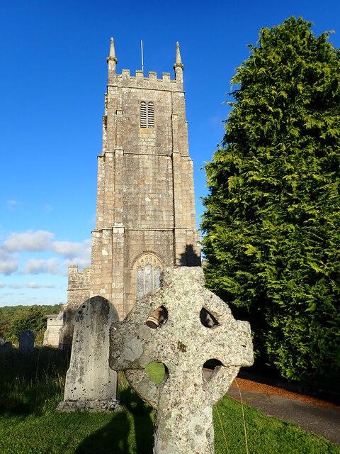 Clear Blue Sky at South Tawton Church