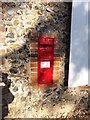 TL9948 : Nedging Hall Victorian Postbox by Geographer