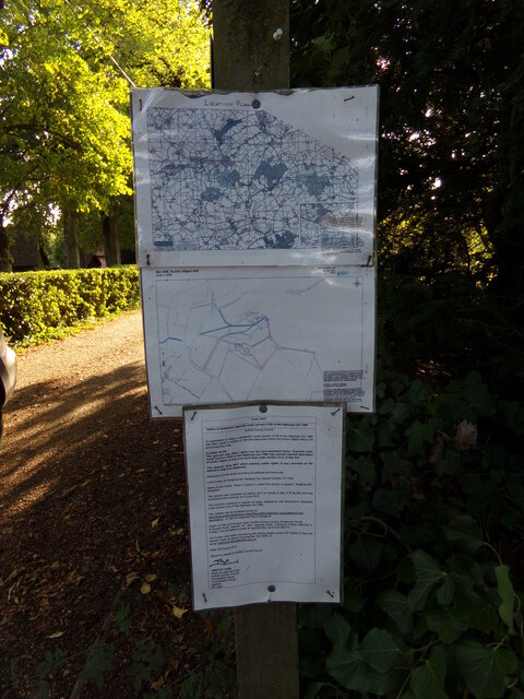 Notices off Nedging Road