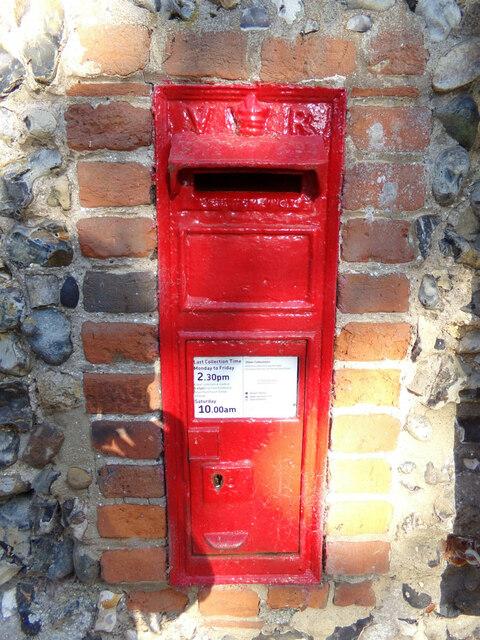 Nedging Hall Victorian Postbox