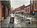 SJ8498 : Street Café on Edge Street by David Dixon