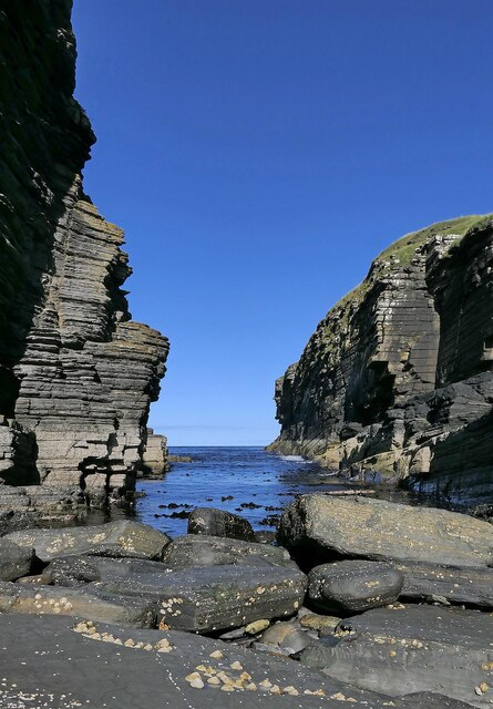 Inlet to the east of Castle Sinclair, Caithness