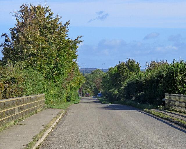 Nearing Duxford on Grange Road