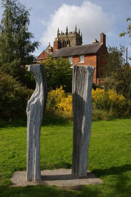 """Ellesmere: sculpture, """"The Sisters"""""""