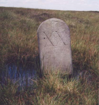 Old Milestone by the Old Saltway Track, south of Woodhead Road
