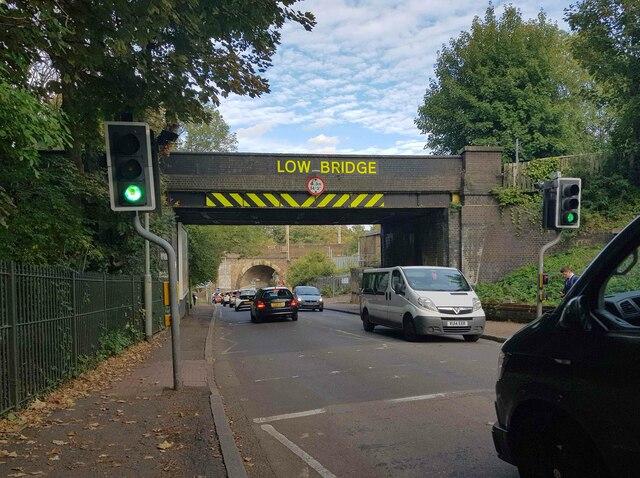 Oxhey: Eastbury Road railway bridge