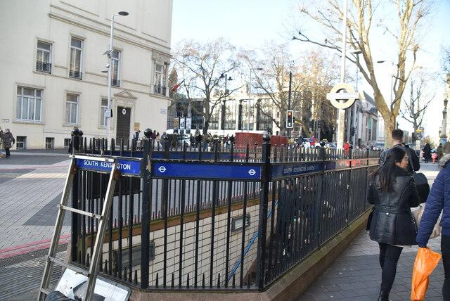 Entrance to station, South Kensington Station