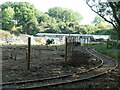 SK5614 : Railway track, Mountsorrel & Rothley heritage centre by Christine Johnstone
