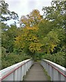 SK5804 : Footbridge across the River Soar/Grand Union Canal by Mat Fascione