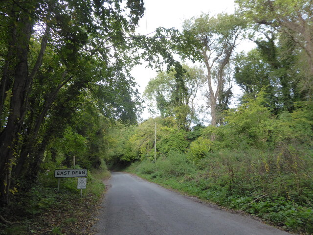 Boundary sign, East Dean