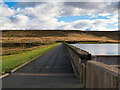 SD9823 : Footpath along the Dam Withens Clough Reservoir by David Dixon