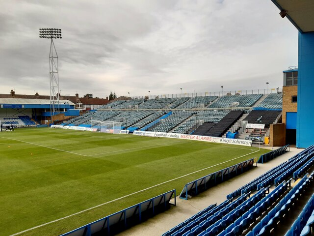 The Brian Moore Stand at Priestfield Stadium