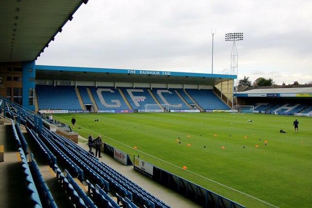 The Rainham End at Priestfield Stadium