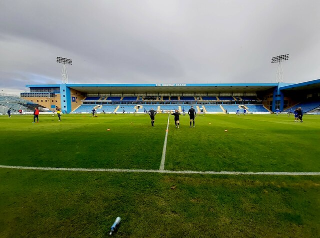 The Medway Stand at Priestfield Stadium