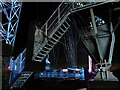 ST3186 : Newport Transporter Bridge with coloured floodlighting  by Robin Drayton