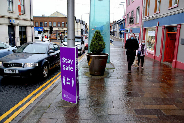 Footpath along Market Street, Omagh