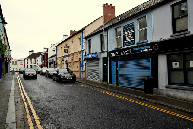Shutters to premises in John Street, Omagh