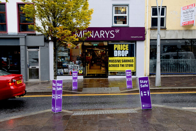 """""""Stay Safe"""" notices, Omagh"""