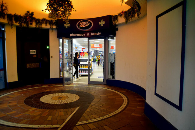 Rear entrance to Boots, Omagh