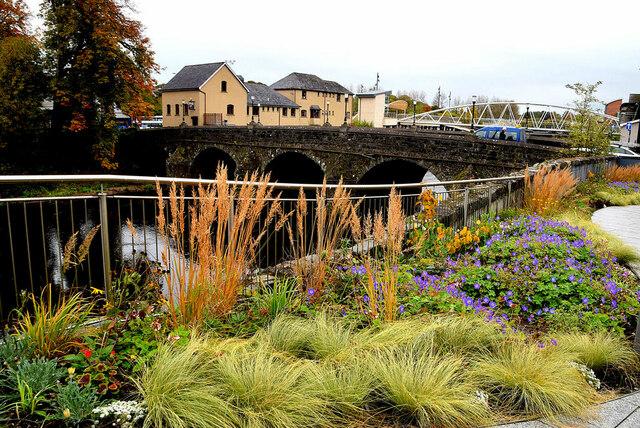 Flower beds, Strule Arts Centre, Omagh