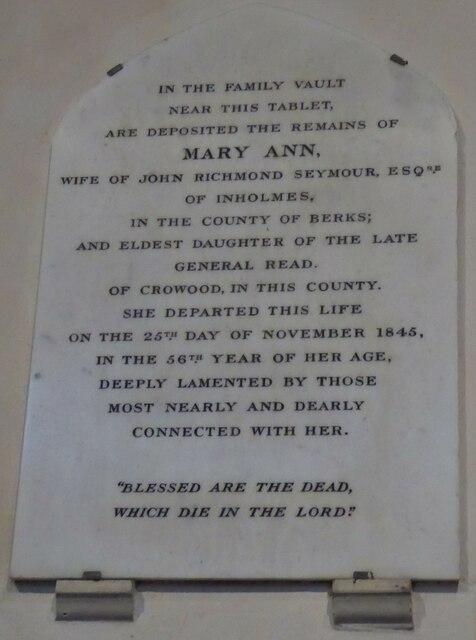 Holy Cross, Ramsbury: memorial (1)