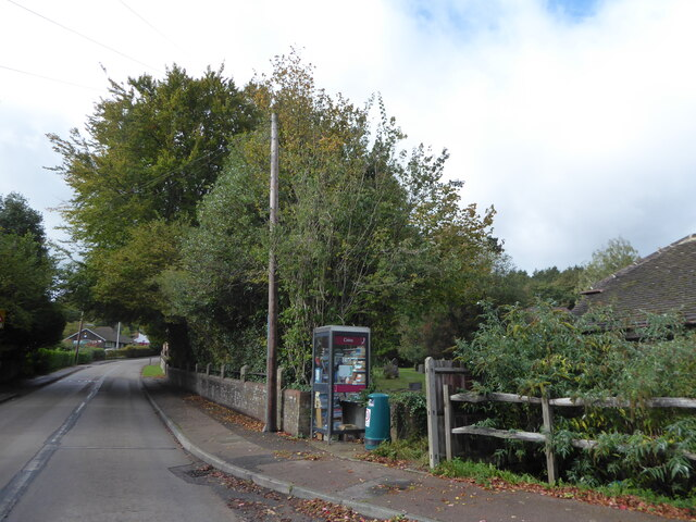 Phone box in Forest Road, Colgate