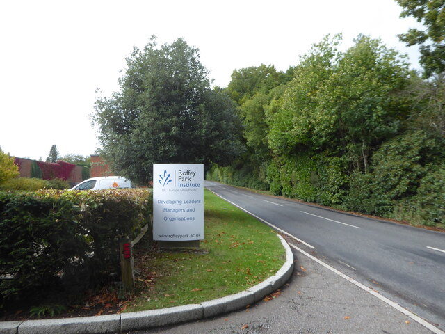 Passing the Roffey Park Institute on Forest Road