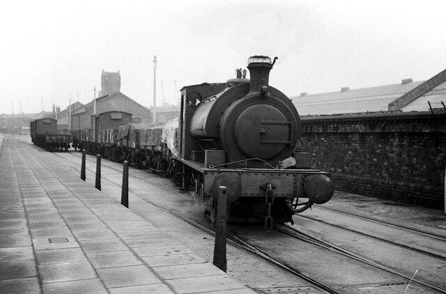 Shunting at Brunswick Dock, Liverpool - 1966