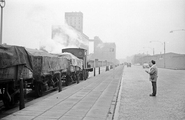 Shunting at Brunswick Dock, Liverpool