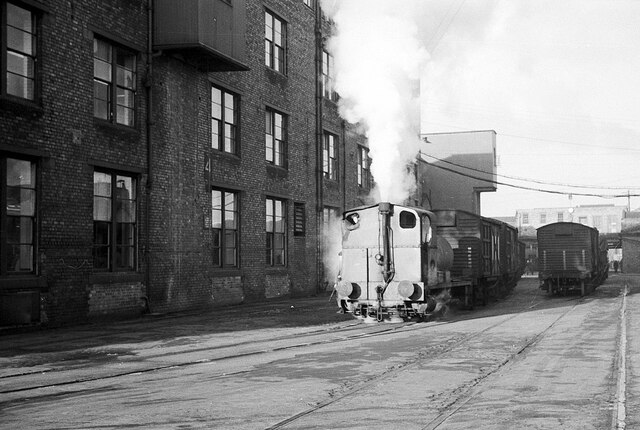Fireless loco at Crawford's biscuit factory – 1965  - 1