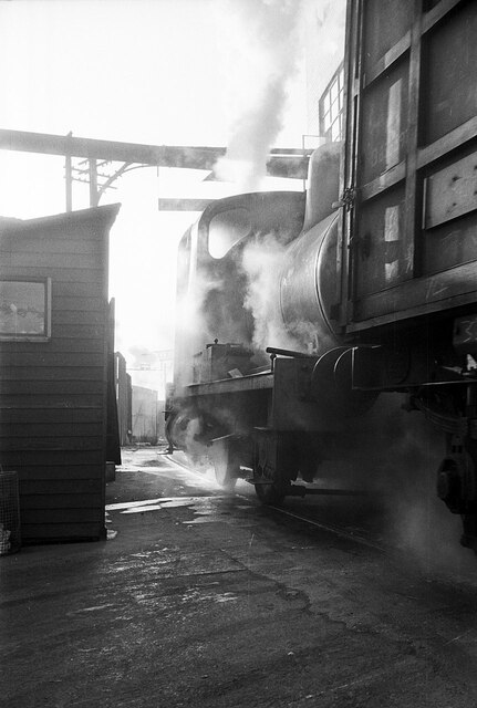 Fireless loco at Crawford's biscuit factory – 1965  - 2