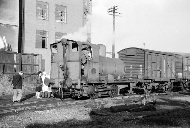 Fireless loco at Crawford's biscuit factory – 1965  - 3