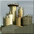 SK7335 : Barnstone Works, cement silos by Alan Murray-Rust