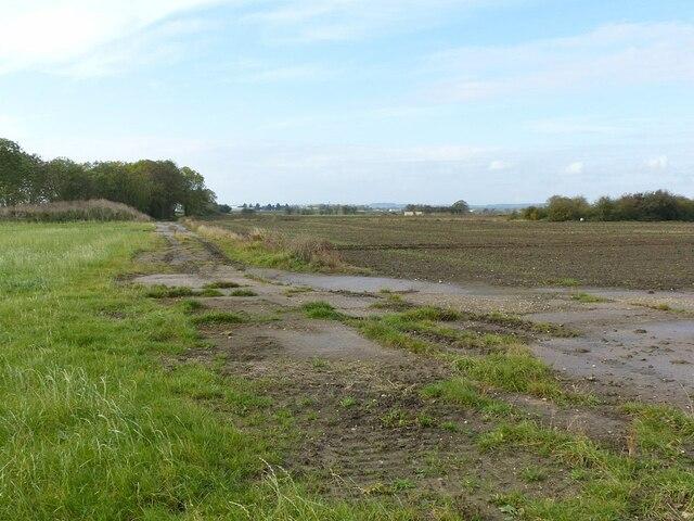 Former roadway at Langar airfield
