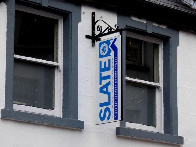 Sign, Slate building