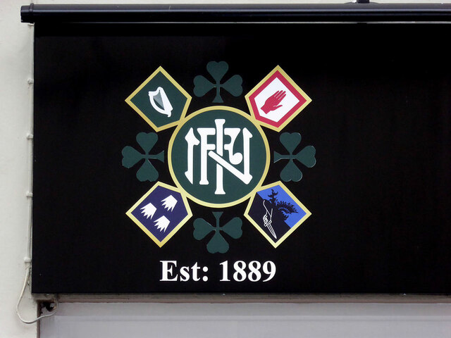 Close-up of INF sign