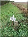 TF2171 : Boundary post alongside a drain by Brian Westlake