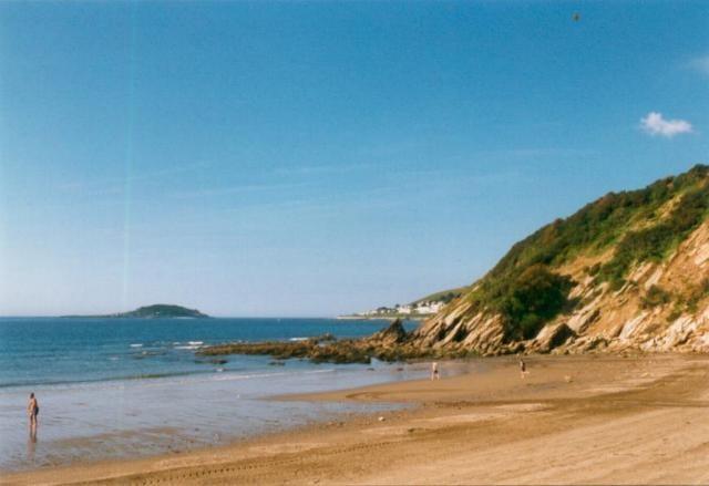 Millendreath Beach and Looe Island
