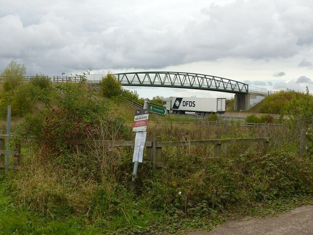 Bridleway bridge over the A46 by Alan Murray-Rust