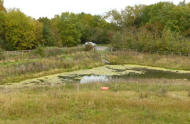 Balancing pond by Alan Murray-Rust