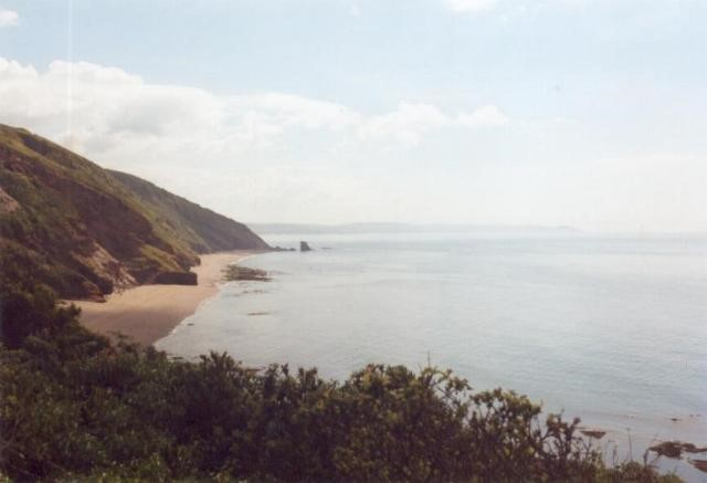 Beach beneath Battern Cliffs