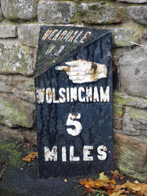 Milestone, East End (A689) / Bondisle Way (2)